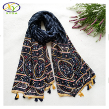 1PC 180*100CM 2016 Autumn New Design Retro Style Soft Cotton & linen Women Long Tassels Scarf Woman New Design Cotton Pashminas(China (Mainland))