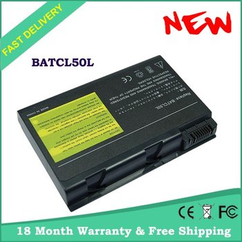 Free Shipping 8 CELL Laptop battery for ACER BATCL50L Aspire 9100 Travelmate 290 series