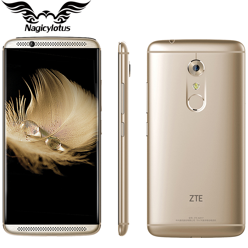 Original ZTE Axon 7 A2017 4G LTE 4GB RAM 128GB ROM Mobile Phone Snapdragon 820 Quad Core 2.15GHz 5.5 inch 20.0MP Fingerprint NFC(China (Mainland))