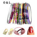 10pcs pack Hot Mix Colors Rolls Metallic Striping Tape Line DIY Nail Art Tips Sticker Decoration