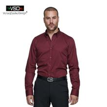 Vsd итальянский бренд офис причинная классические рубашки стиль мужская рубашка с длинным рукавом Большой размер тонкой бесплатная доставка высокое качество(China (Mainland))