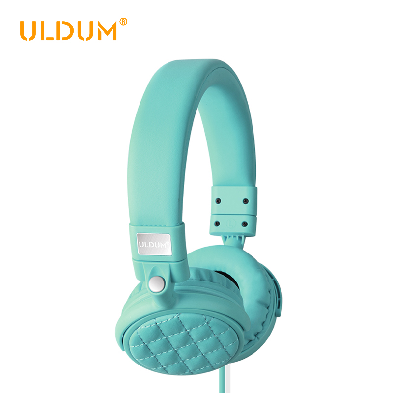 ULDUM 3.5mm Wired Stereo Headphones Soft Leather Ear Cup Handsfree Headband Headset Built-in Mic for Phones Tablet Computer<br><br>Aliexpress