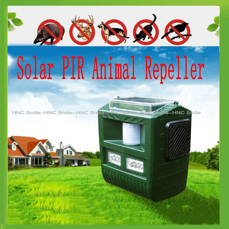 2015 Solar Ultrasonic Cat Dog Repeller Bird Animal Repeller Beast Bat Repeller PIR Motion Sensor Repellent Pest Reject(China (Mainland))