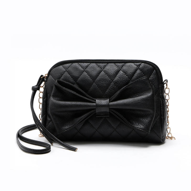 Vintage  Diamond Lattice Bag Women Bowknot Bag  Shoulder Handbag Bow Women Messenger Bag Bolsa