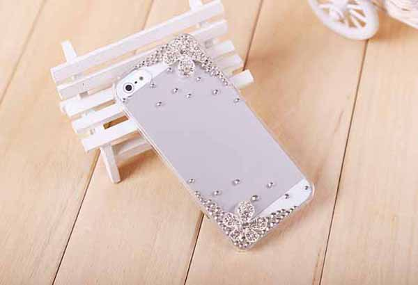 2015 new Five Flowers Luxury Rhinestone Diamond Design Hard Promotion Cover Crystal Bling Case for iphone 3 3G 3S(China (Mainland))