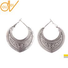 2 Colors Thai Silver Ethnic Style Women Drop Earrings Tribal Patterns Boho Dangle Earrings HQE277(China (Mainland))