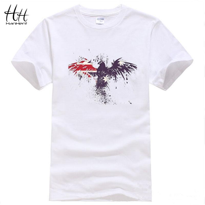 HanHent High Quality Hiphop t-shirts Men's Short Sleeve Summer Tshirts Men T shirts Eagle Shirt Fitness Unisex Cotton TA0533(China (Mainland))