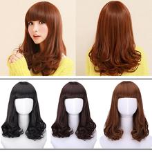 Fashion women Pear head long curly hair fluffy wigs free shipping #L04709(China (Mainland))