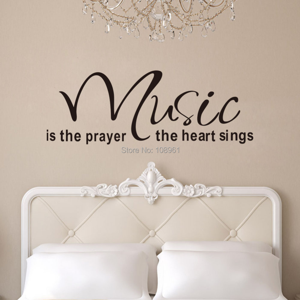 Music Is The Prayer The Heart Sings Inspirational Uplifting Vinyl Wall Decals Home Sticker