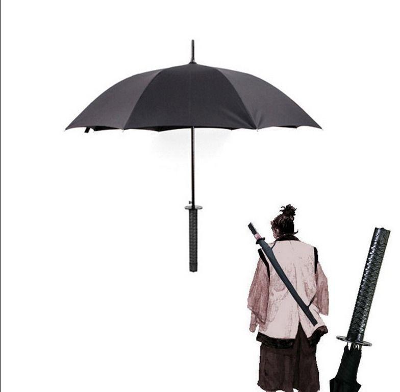 Japanese Samurai Man Sword Umbrella Katana fibers long-handled Rain Umbrella Novelty Free Shipping NEW180(China (Mainland))