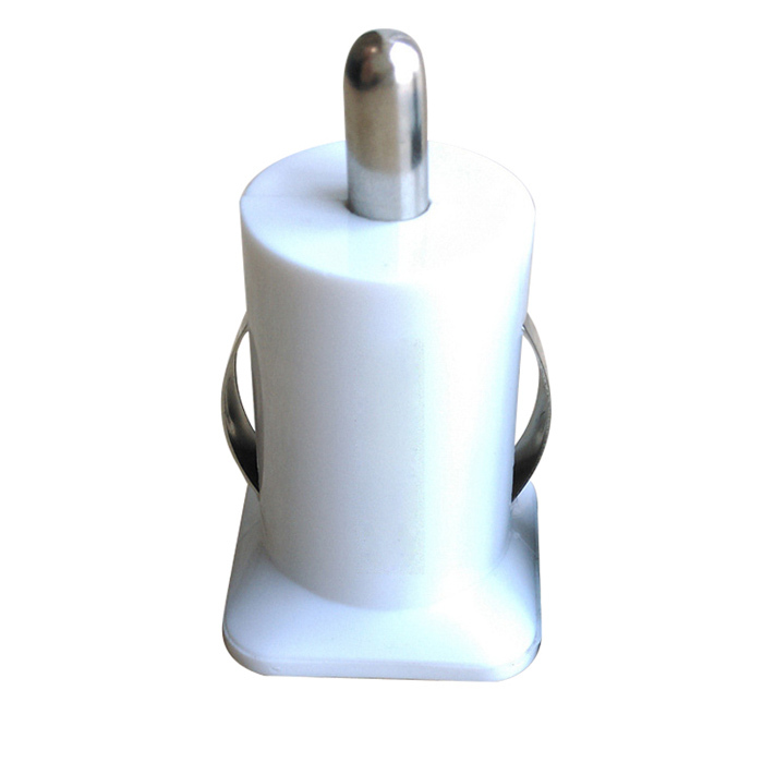 auto usb universal platics Adapter / Cigar Socket black/white 12V to 5V 1.1A/2A car charger(China (Mainland))