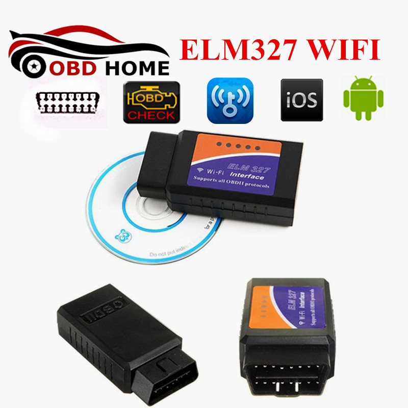 Newest ELM327 WIFI OBD2/OBDII Auto Diagnostic Scanner Tool ELM 327 WIFI Support IOS Phone Fast Shipping(China (Mainland))