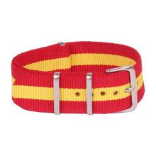 Nuevo rojo amarillo 22 mm tela otan Nylon correa de reloj correa accesorios bandas hebilla de correa 22 mm