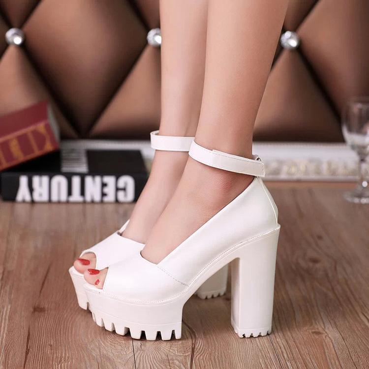 High heels women shoes platform shoes zapatos mujer women pumps lolita shoes 2015 fashion ladies shoes chaussure femme 4.5-8