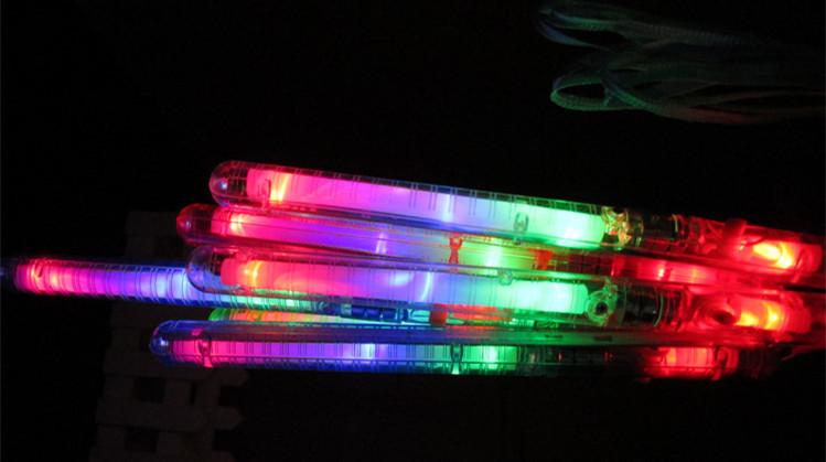 12pcs/lot Multi 7Modes Flashing LED Night Light Colorful Lamp Wand Glow Sticks + strap Festival Camp Party Free Shipping TY506(China (Mainland))