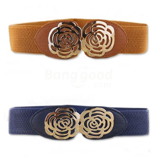 New Hot sale discount Metal Rose Flower Pattern Decoration Belt promotion free shipping(China (Mainland))