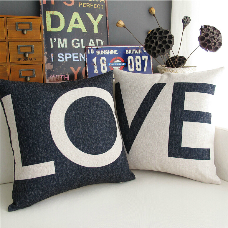 The nordic ikea love black white valentine s day gifts pillow linen cushion pillow cover pillowcase