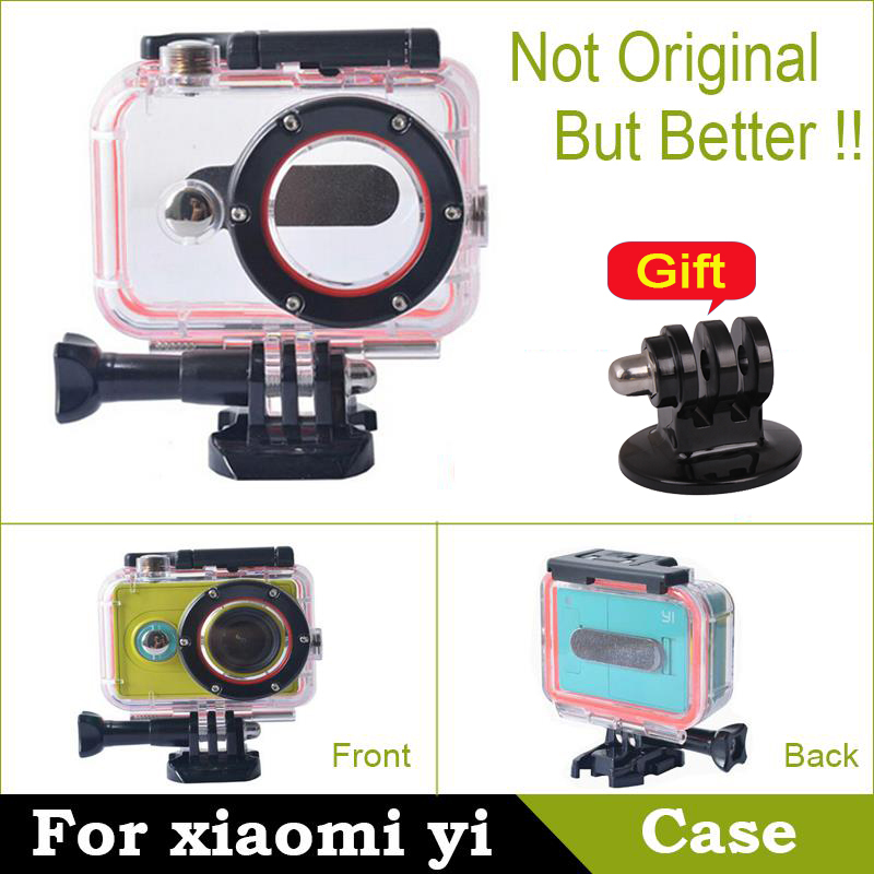 Гаджет  In Stock!! Original Camera Waterproof Case for Xiaomi yi Xiaoyi yi Action Sport Camera Accessories Diving 60m Fall proof shell None Бытовая электроника