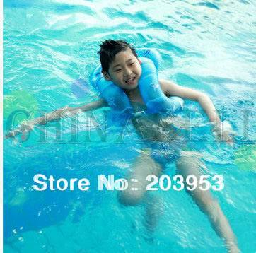 39pcs kid inflatable life vest swimming circle ring swimming vest floating ring U-armpit floating ring with safety clasp(China (Mainland))
