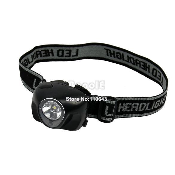 3 Watt LED + 1 Red LED Mini Headlamp Headlight Head Light Torch Flashlight Free Shipping 36(China (Mainland))