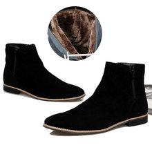 Botas de Nieve de invierno Cálido Cachemir cómodas Botas de plataforma de Los Hombres Británicos Zapatos de Los Hombres Altos Zapatos Superiores(China (Mainland))