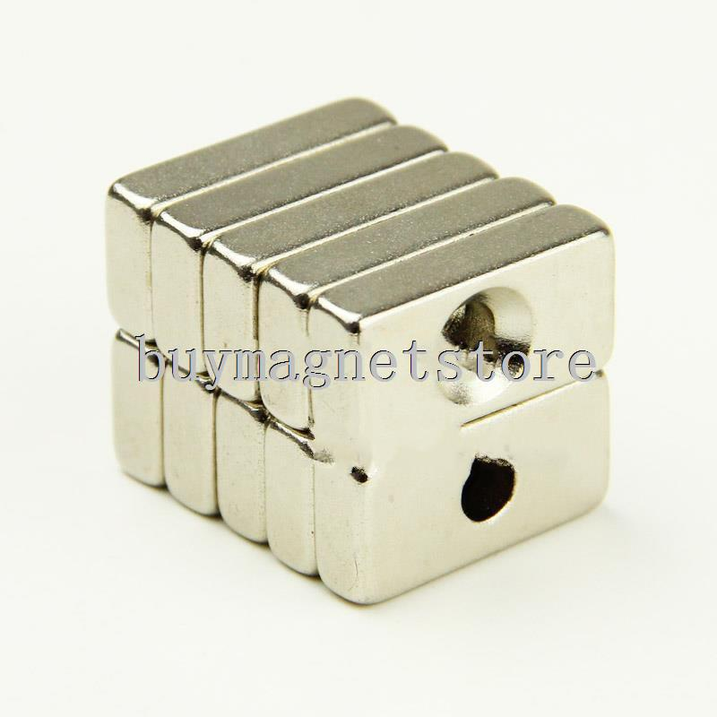 20PCS N35 Strong Magnet 20mm x10mm x 6mm Hole 3mm Rare Earth Neodymium Magnetsndfeb Neodymium  magnets<br><br>Aliexpress