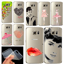 Phone Case for Samsung Galaxy S6 Soft TPU Silicon Transparent Beautiful Sexy Lady Printed Case Cover for S6(China (Mainland))