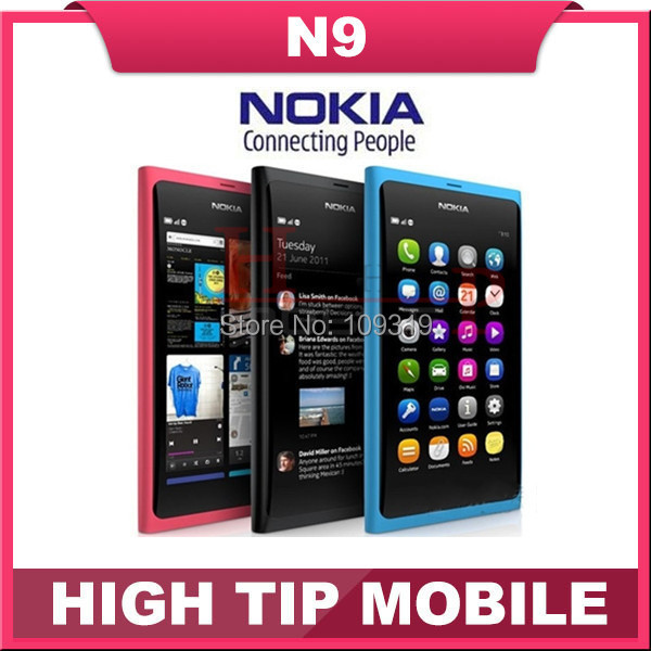 unlocked original Nokia N9 GSM touch screen cell phone 3G WIFI 8MP camera mobile phone Refurbished free shipping1 year warranty(China (Mainland))