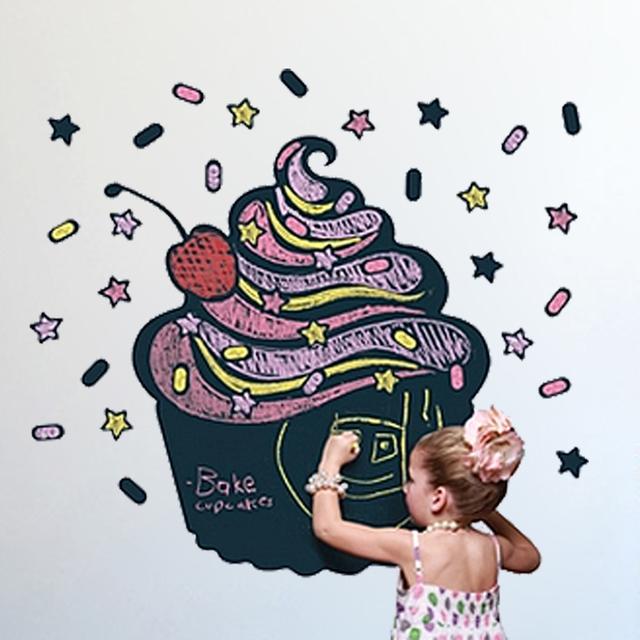 Торт дизайн 2015 горячая винил доске стены стикеры съемный доска переводные картинки отличный подарок для детей