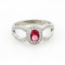 Crystal Engagement Ring Crown Fine Cubic Zircon Diamond Jewelry 925 Sterling Silver Ruby Stone Large Rings