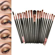 Pro 20pcs Eye Brushes Cosmetic Makeup Brush Set Soft Powder Foundation Eyeshadow Eyeliner Lip Brush Kit