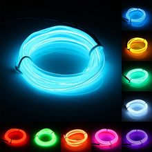 1M Led Flexible EL Wire Neon Lights Glow Lamp Light Strip Festival Party House Home Decorations Strip Lights String Lamp(China (Mainland))