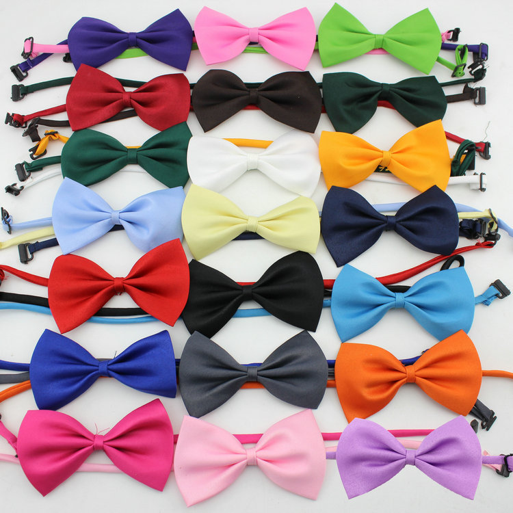 1pcs cheap bowtie gentleman men's solid color imitation silk bow ties fashion bowknot men's accessories cravat(China (Mainland))