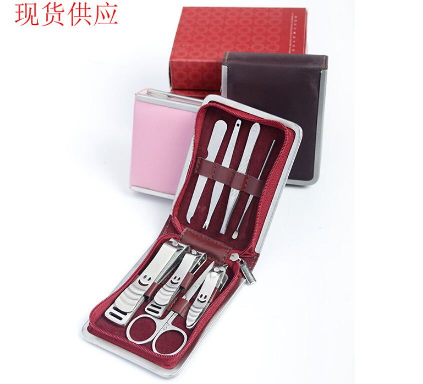 Beauty makeup 8pcs nails art maricure set nail clippers nail tools salon express scissors pincel de unha for manicure pedicure(China (Mainland))
