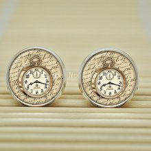 10pair Steampunk Victorian Clock Earrings watch jewelry Earrings glass Cabochon Earrings B1639