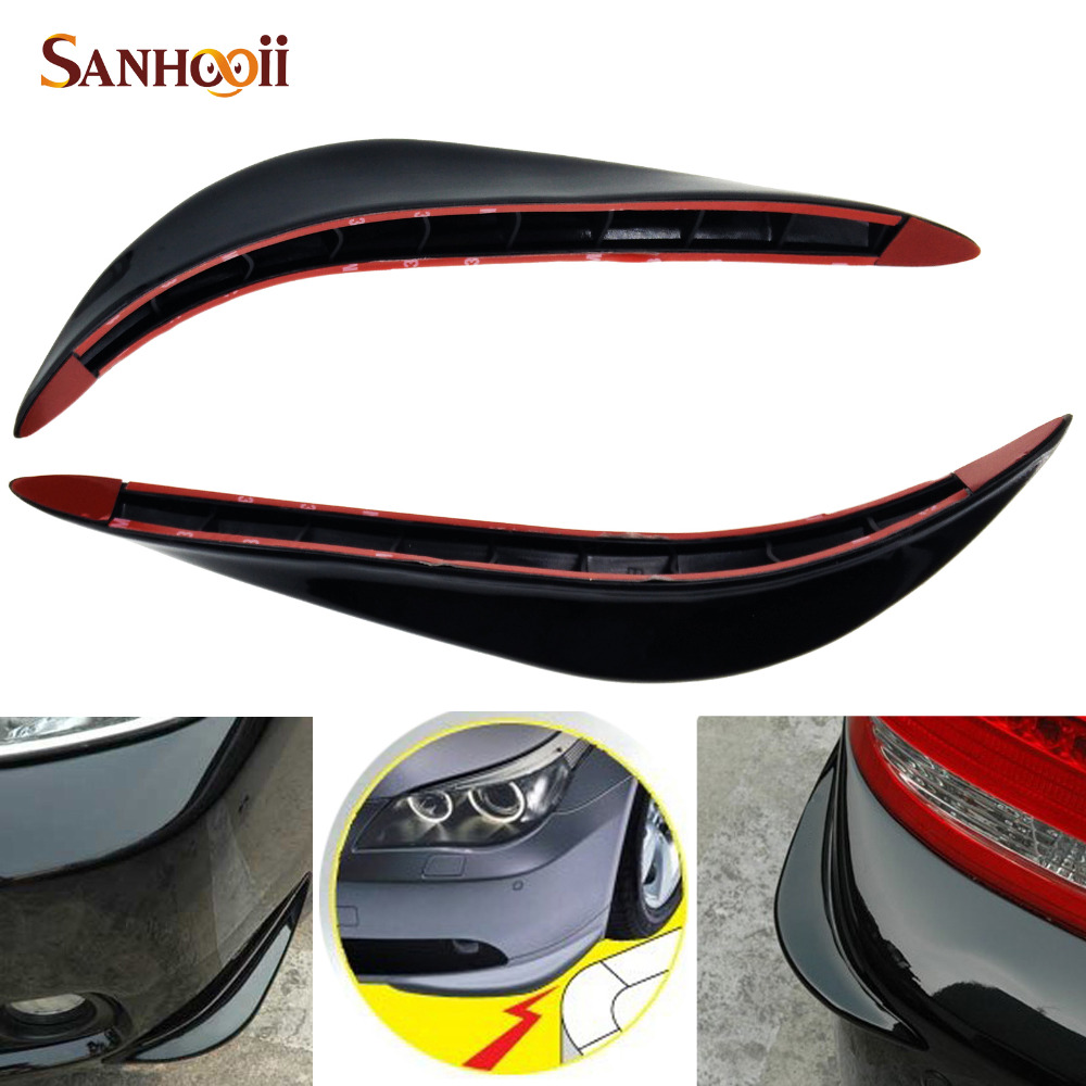 Car SUV Body Bumper Anti-rub Strips Auto Exterior Scratches Protector Decoration Bar Corner Thickening Crash Bar PVC
