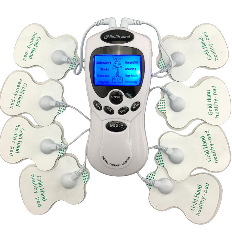 TENS Body Healthy care Digital meridian therapy massager machine Slim Slimming Muscle Relax Fat Burner pain new 2*4 pads massage(China (Mainland))
