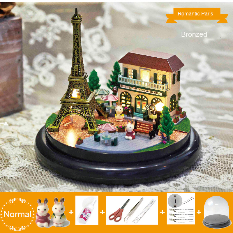 Villa Puzzle Small House Model Children's Toys Game Play Boys Girls`s gift DIY Romantic gift 3D Jigsaw Toy Gifts For Kids(China (Mainland))