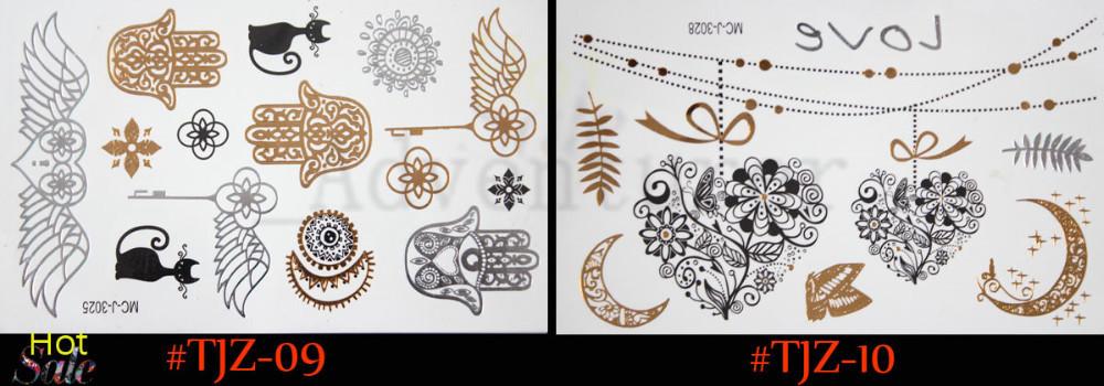 gold tattoo sex products  body art necklace bracelets tatoo metal temporary tattoo women flash metalic fake gold silver tattoos