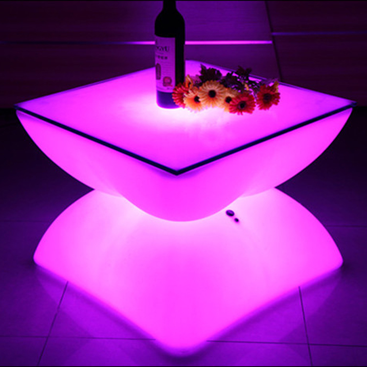 LED Furniture Glowing Bar Table Low Coffee Table 100% Unbreakable(China (Mainland))