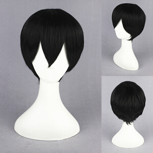 Free Shipping 32cm Arcana Famiglia-Jolly Black Synthetic anime cosplay wigs<br><br>Aliexpress