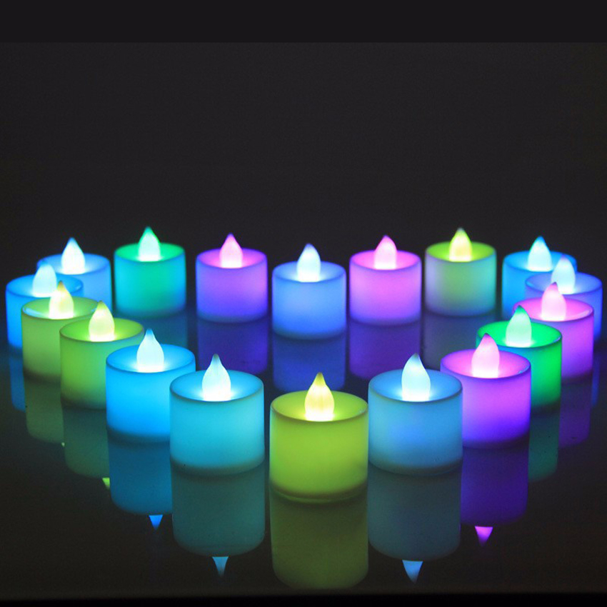 Holiday 24 pcs/lot Flickering LED Tealight Candle Holders Light Xmas Party Wedding Candles Safety Home Decoration Bougie Fleur(China (Mainland))