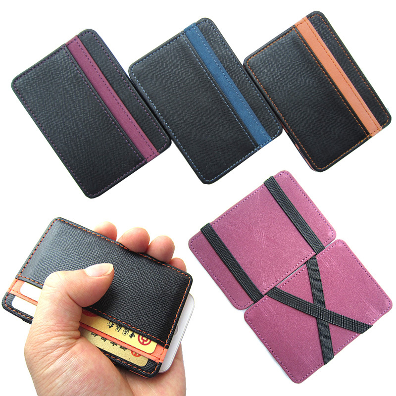 Hot selling High quality PU leather magic wallets fashion designer men bank card holder retail and wholesale Model:FGS01(China (Mainland))