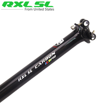 RXL SL PRO Full Carbon Fiber Bicycle Seatpost MTB/Road Bicycle Seatpost Bike Seattube Seat  27.2/30.8/31.6*350/400 IN Stock(China (Mainland))