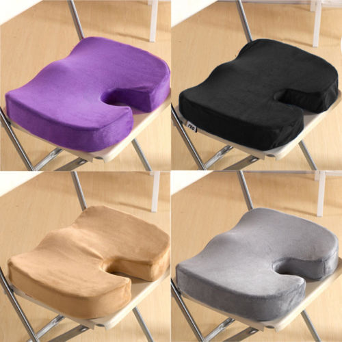 Deluxe Memory Foam Back Ache Pain Office Chair Orthopedic Seat Solution