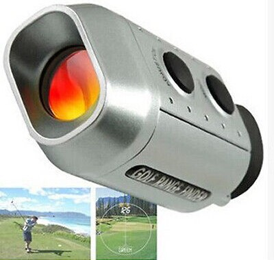 Free shipping Digital 7x Optic Telescope Pocket Laser Golf Range Finder Rangefinder Golf scope Yards Measure