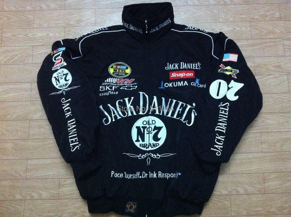 Embroidery F1 Road Racing JACKET GSN NASCAR Motorcycle Jacket Jack Daniel's AB091(China (Mainland))