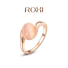 ROXI Brand 2015 Free Shipping Ellipse Opal Ring Rose Gold Wedding Rings For Men And Women Korean Fashion Jewelry 2010433200b