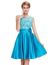 New Arrival Cap Sleeve Purple Green Blue Lace Mother of the Bride dresses Short Evening Gown Women Formal Dress for Wedding 6116(China (Mainland))