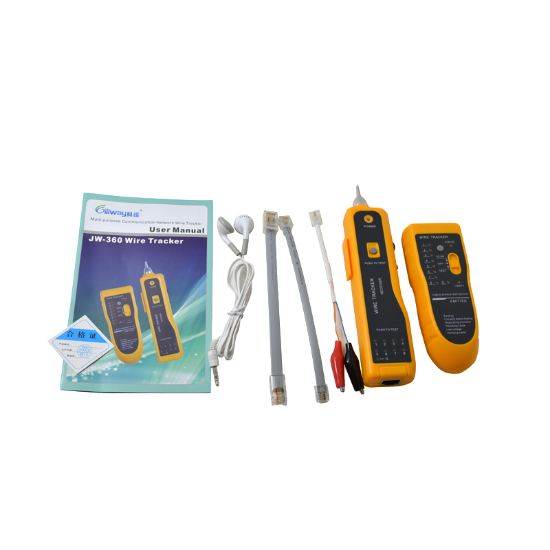 Hot New UTP STP Cat5 Cat6 RJ45 Line Finder Telephone Wire Tracker Tracer Diagnose Tone Tool Kit LAN Network Cable Tester JW-360(China (Mainland))